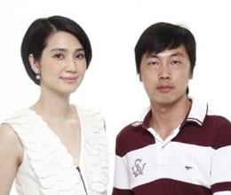 张勇与香港明星洪欣合影
